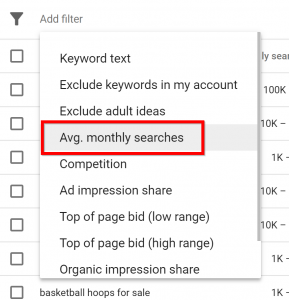 AverageMonthly googleAdWord