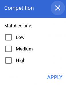 Competition googleAdWord
