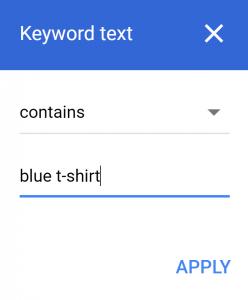 KeyWordText googleAdWord
