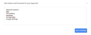 keywordList googleAdWord