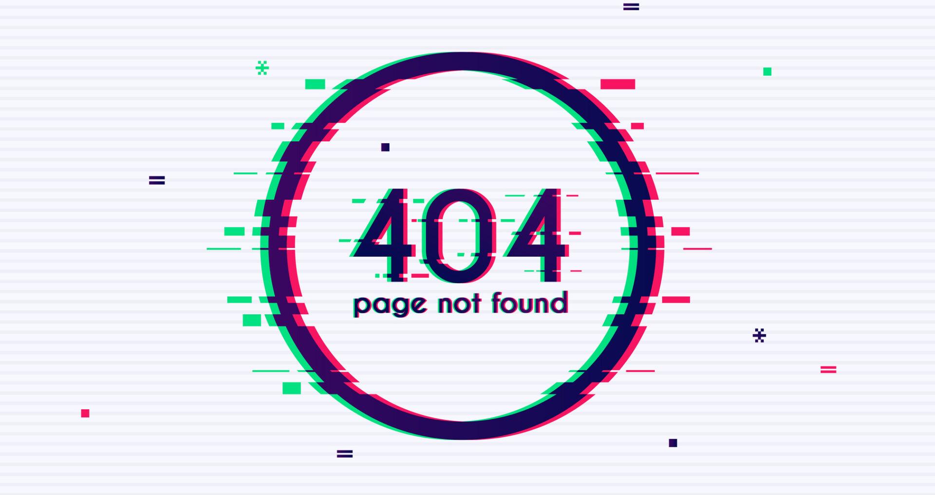 خطای ۴۰۴ چیست؟ ( error 404 )