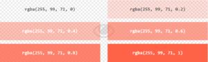 RGBA Color Values